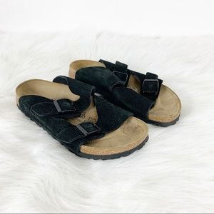 Birkenstock Birki's Black Suede Arizona Sandals 36